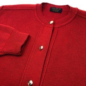 Brooks Brothers Merino Wool Red Sweater Vintage